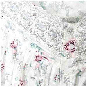 eileen west Intimates & Sleepwear - Eileen West Floral Cotton Short Gown Sleep Shirt